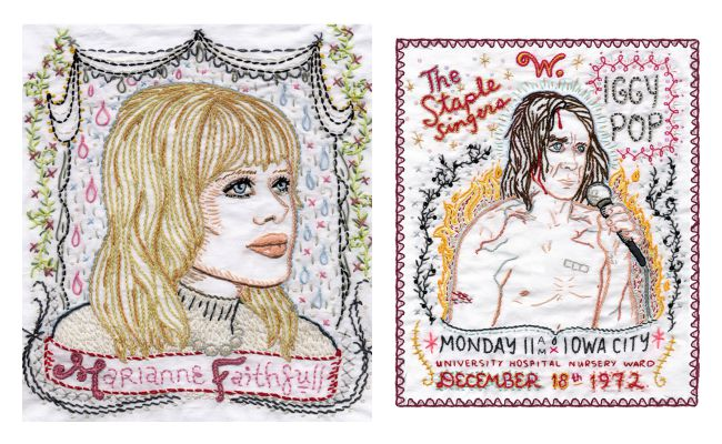 Jenny Hart Embroidered Portraits Lola Who Fashion Music Photography blog 1