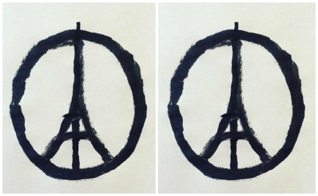 Paris Attack Peace and Love Sign Paris Lola Who Fashion Music Photography blog
