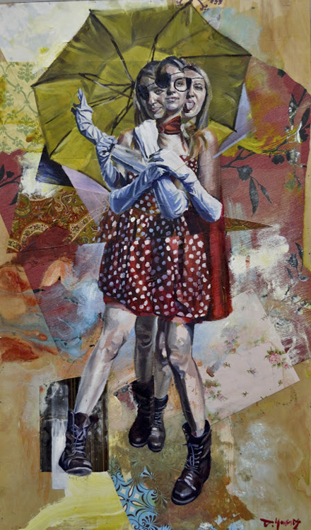 Andrew Young; Collage artist; DrewYoung; Figurative Painting; illustration; mixed media; Oil Painter; Oil Painting; portrait; Rook and raven Gallery; Vancouver