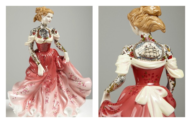 Porcelain dolls with tattoo Lola Who Fashion blog
